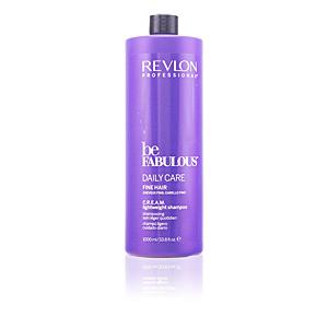 BE FABULOUS daily care fine hair cream shampoo 1000 ml